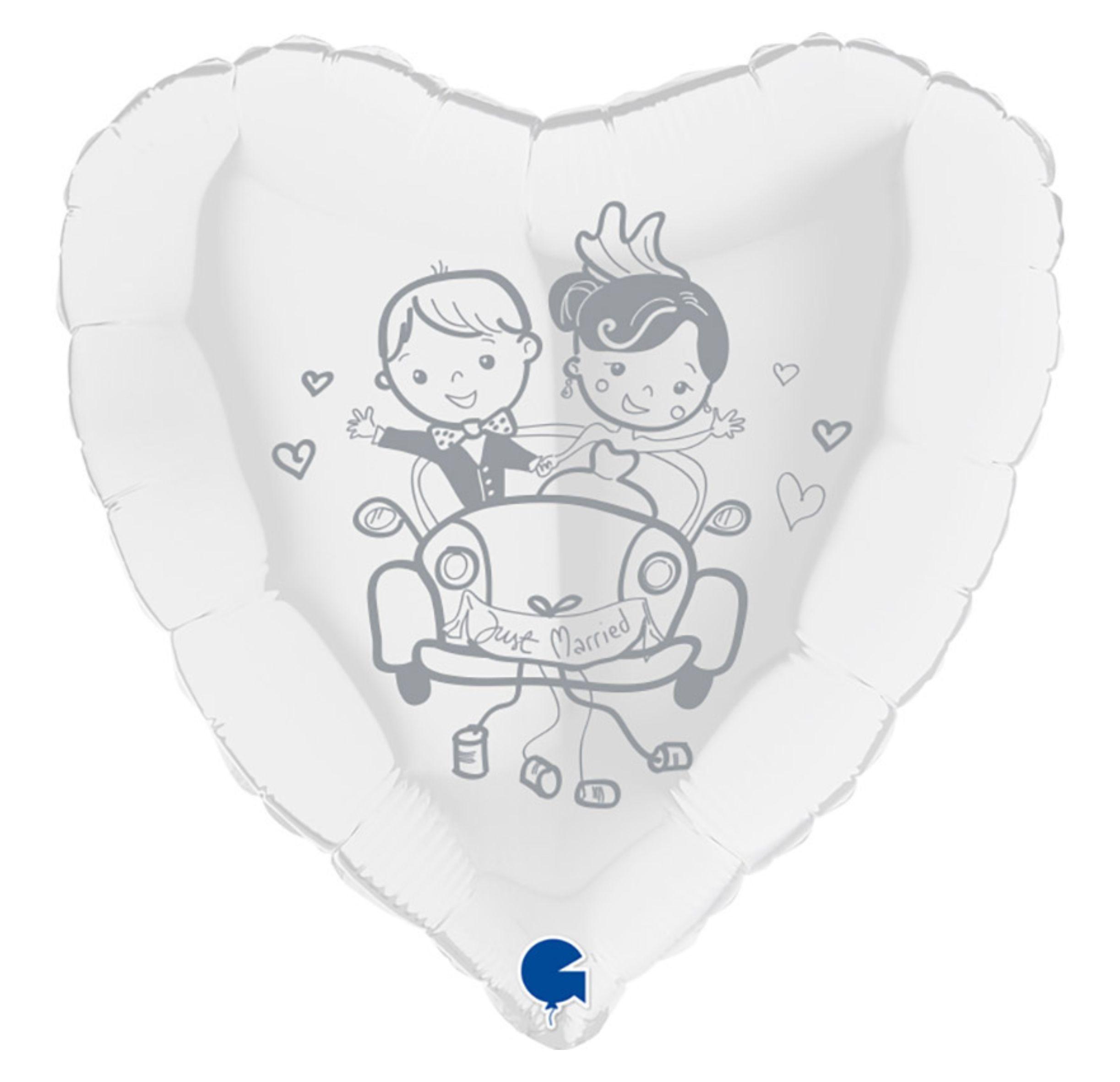 balony foliowy z nadrukiem młodej pary