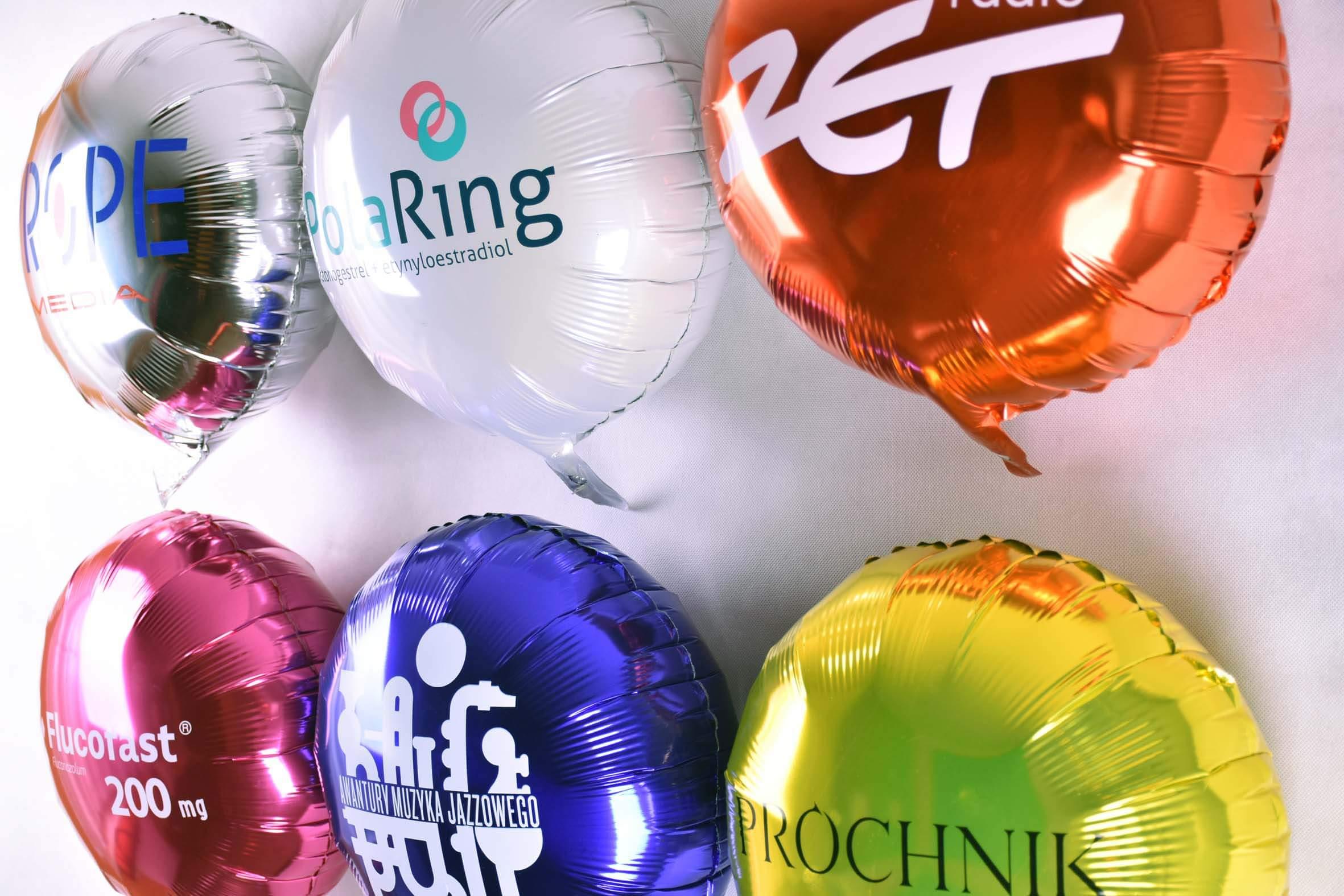 balony foliowe z nadrukami logo