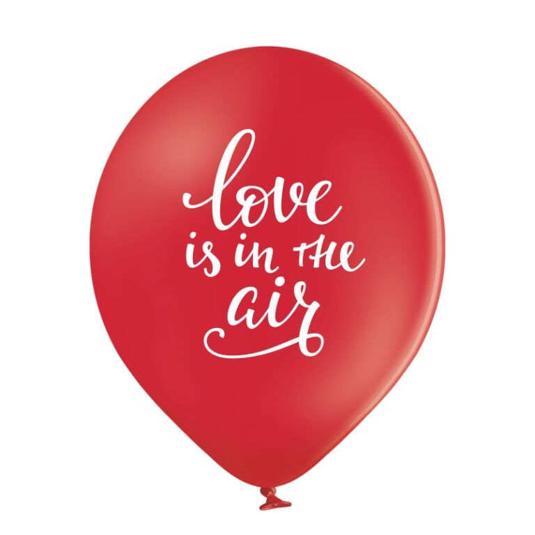 Balony lateksowe Love Is In The Air 30cm 6 szt