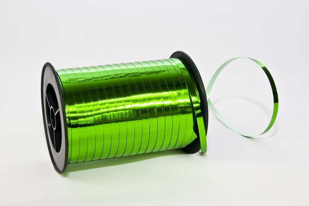 zielona wstążka do balonów
