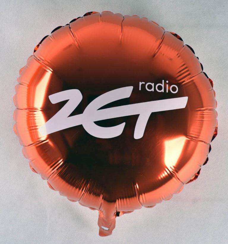 balon foliowy z nadrukiem radio zet