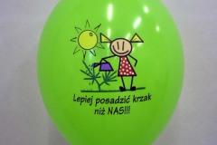 balon z nadrukiem lepiej posadzić krzak niż nas