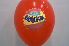 balon z nadrukiem hellena oranżada